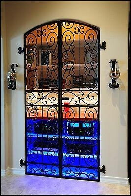 Iron Forged Wine Cellar Double Door Gate 8 Feet Tall Handcrafted In The Usa