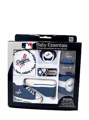 Los Angeles LA Dodgers MLB Baseball Baby Essentials 5 Piece Gift Set