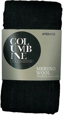 70% Merino Wool Tights Leg Warmer X-Tall Tall XL L 12 14 Black Columbine New