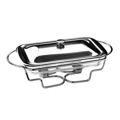 Food Warmer, 2.2 Ltr Marinex Glass Dish, Stainless Steel