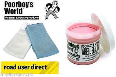 PoorBoys Wheel Sealant & 2 Micro Fibre Cloths - Free Tracked Delivery