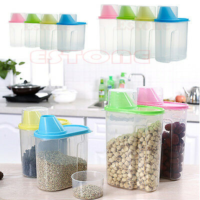 1.9L/2.5L Cereal Flour Pasta Sealed Box Beans Storage Rice Dried Food Container