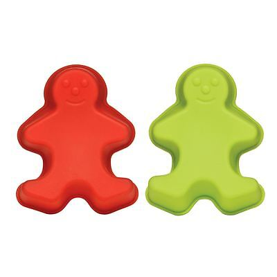 Cake Moulds, Set of 2 Gingerbread Men, Silicone