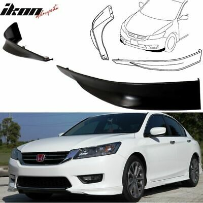 13-15 Honda Accord Sedan 4Dr OE HFP Style 2 Piece Front Lip Underbody Spoilers