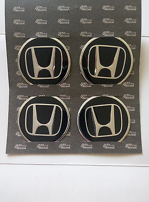 Honda Alloy Metal Wheel Center Badge Sticker Logo 60mm