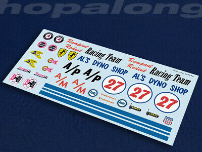 Scalextric/Slot Car 1/32 Decals. ns009