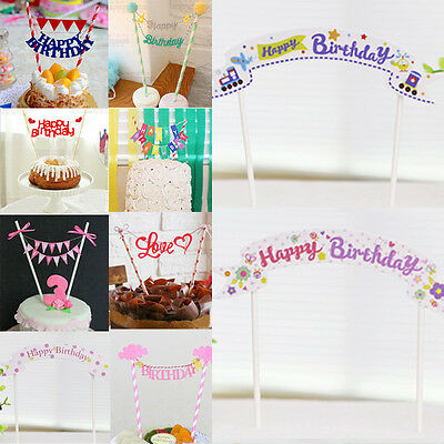 Cute Kids Cake Topper Baby Shower Decorations Birthday Party Supplies
