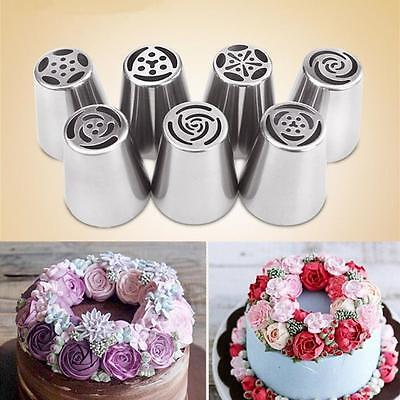 7Ps x Russian Tulip Flower Cake Icing Piping Nozzle Decorate Tip Baking Tools