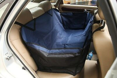 Car Dog Seat Cover Pet Waterproof Protective Cover Hammock Navy Blue Sbh7032