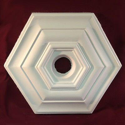 Ceiling Rose Plaster Art Deco Hexagonal Victorian 380mm Handmade