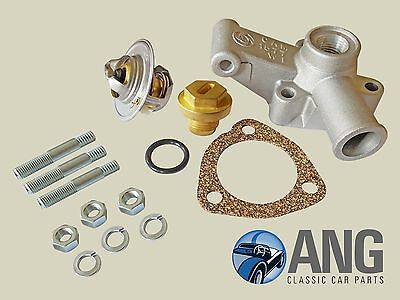 Mgb, Mgb-Gt 1976-1980 Thermostat Housing, Thermostat, Gasket, Studs & Plug Kit