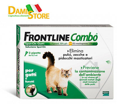 Frontline Combo Spot-On per Gatto 3 Pipette