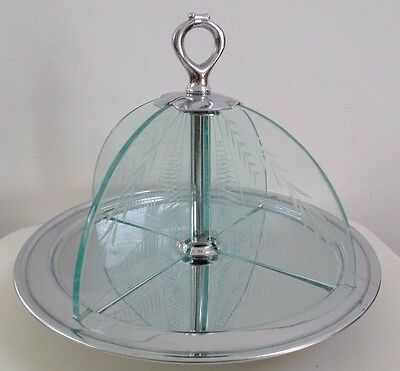Art Deco Chrome Cake Stand : Art Deco Lady - Butterfly? Collectible Pressed Brass   USD5 ...