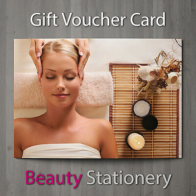 Gift Voucher Beauty Salon Blank Card Coupon Nail Massage Hairdressing A7 + Env.
