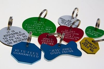 Quality Engraved Pet tag- small 26mm circle Acrylic tag • EUR 5,48