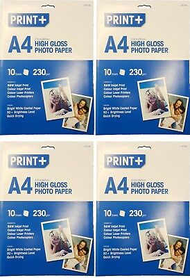 40 Sheets A4 High Gloss Photo Paper Inkjet, Laser Printer , Photocopiers 230gsm