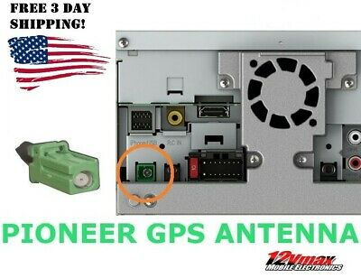 GPS NAVIGATION ANTENNA FOR PIONEER AVIC NEX AVH Replacement Piece Green  Plug GX5