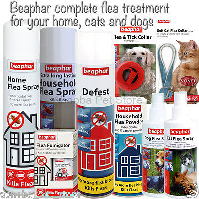 Complete Flea Treatment Kit. Home Dog Cat Bedding Furniture Kills Fleas Instant