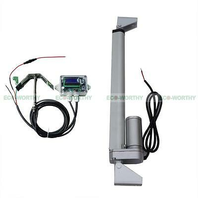 Single Axis 1KW Solar Tracker - System Kit Linear Actuator 12'' & Controller