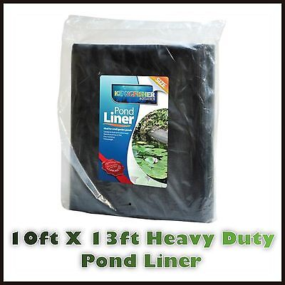 10ft X 13ft Quality  Heavy Duty Black PVC Fish Pond Water Garden Liner Plant Uk