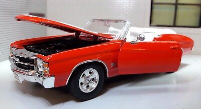 G LGB 1:24 Scale 1971 Chevrolet Chevelle SS 454 Convertible Welly Model Car RED