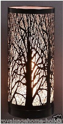 "LM1003 5X11"" Birch Tree Table Lamp Touch Silhouette Accent Light Halloween Lodge"