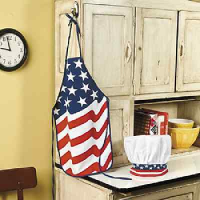 Patriotic Child's Apron & Chef Hat 4TH OF JULY (35/966)
