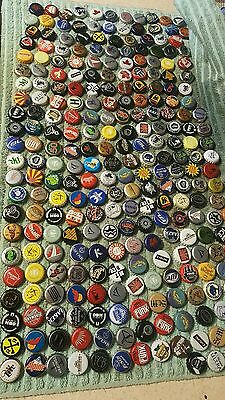 Lot of 100 different Vintage Beer,Malt and  Soda Pop Bottle Caps.....