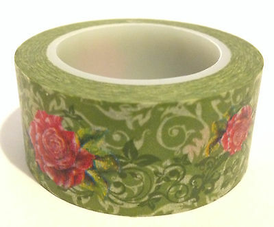 Washi Tape Wide Rosie Vine 20Mm X 10Mtr Roll Scrap Plan Craft Wrap