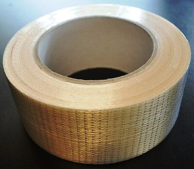 CROSS WEAVE REINFORCED FILAMENT TAPE~50mm x 50METERS~HEAVY DUTY. FREE SHIPPING