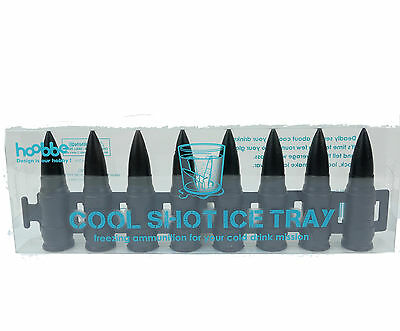 COOL SHOT Ice Cubes Tray - Man Cave Pool Room Glass Bullets Whiskey Drink Gift
