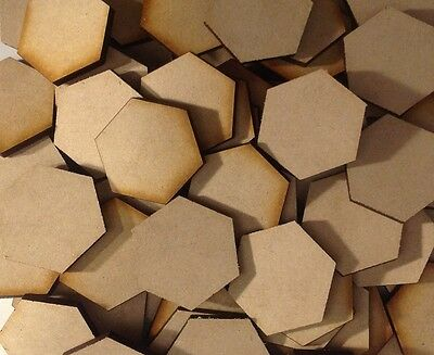 20x 25mm Hex MDF Wood Bases Laser Cut Crafts Wargames Miniatures FAST SHIPPING