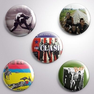 5 CLASH -  Pinbacks Badge Button 25mm 1''..
