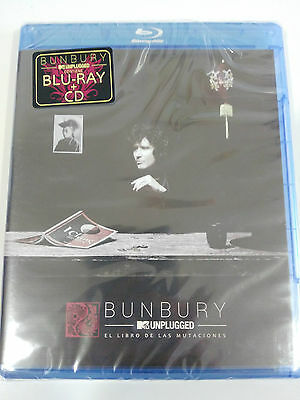 Bunbury Mtv Unplugged El Libro De Las Mutaciones Blu-Ray + Cd New Sealed Nuevo