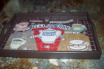 Old All Mosaic Hand Made Very Large Tray Unique Mint One Of A Kind No Reserve