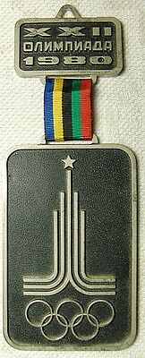 Rare Original Large Wall Medal Volunteer Award Moscow 1980 XXII Olympic Games