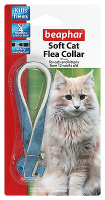 Beaphar Cat Flea Soft Collar Blue Velvet - Valentina Valentti UK