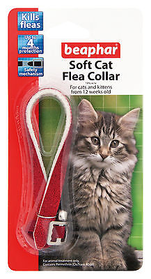 Beaphar Cat Flea Soft Collar Red Glitter - Valentina Valentti UK