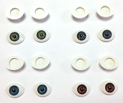 BJD OVAL EYES Doll Making Reborn Doll Craft - Various Pupil Sizes & Colours