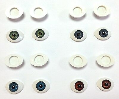 BJD OVAL EYES Doll Making Soft Toy Animal Craft - Various Pupil Sizes & Colours