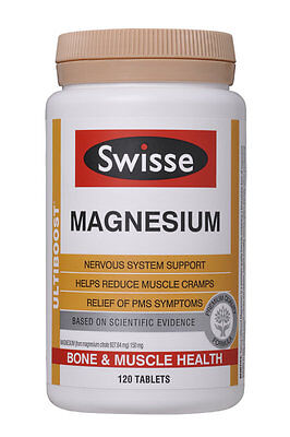 Swisse Ultiboost Magnesium Nervous Anxiety Support Muscle Cramps 120 Tablets