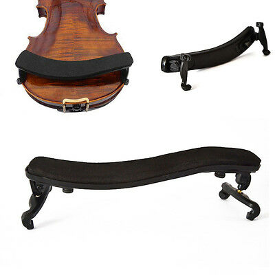 P Pro Violin Shoulder Rest Fully Adjustable Pad Support For Violin 3/4 4/4 Black