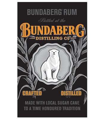 BUNDABERG Wall Banner - Man Cave Pool Room Supplies Rum Flag Garage SIGN