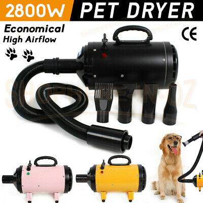2800W Low Noise Pet Hair Dryer Dog Cat Grooming Blaster Heater Adjustable Blower