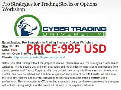 Pro Strategies For Trading Stocks Or Options Workshop