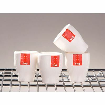 Set of 4 Red Tag High Quality Egg Cups Ceramic