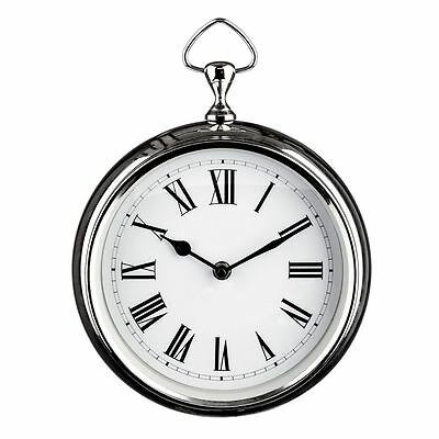 Premier Housewares Wall Clock, Chrome Plated