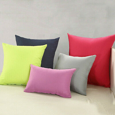 Solid Color Home Decor Solid Square Throw Pillow Case Casual Sofa Cushion Cover