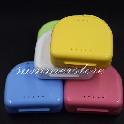 50x Dental Retainer Orthodontic Mouthguard Denture Storage Cases Box Tray