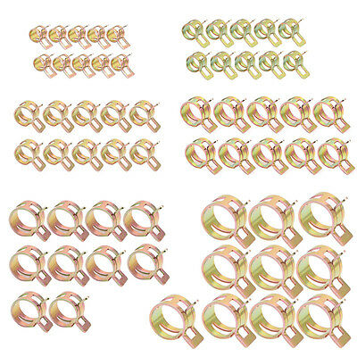 60Pcs Spring Clips Fuel Oil Water Hose Clip Pipe Tube Clamp Fastener 6-15mm New